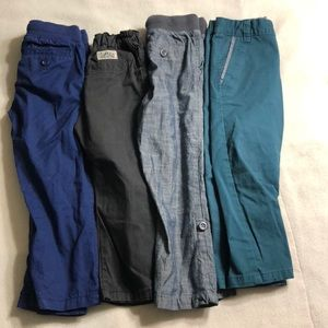 Set of 4- boys colored dressy pants